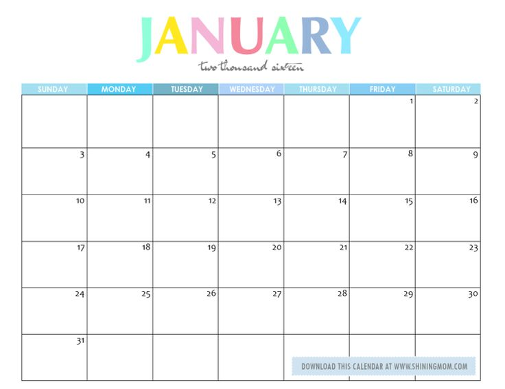 Blank Calendar With Numbers : Free printable calendar numbers for january images