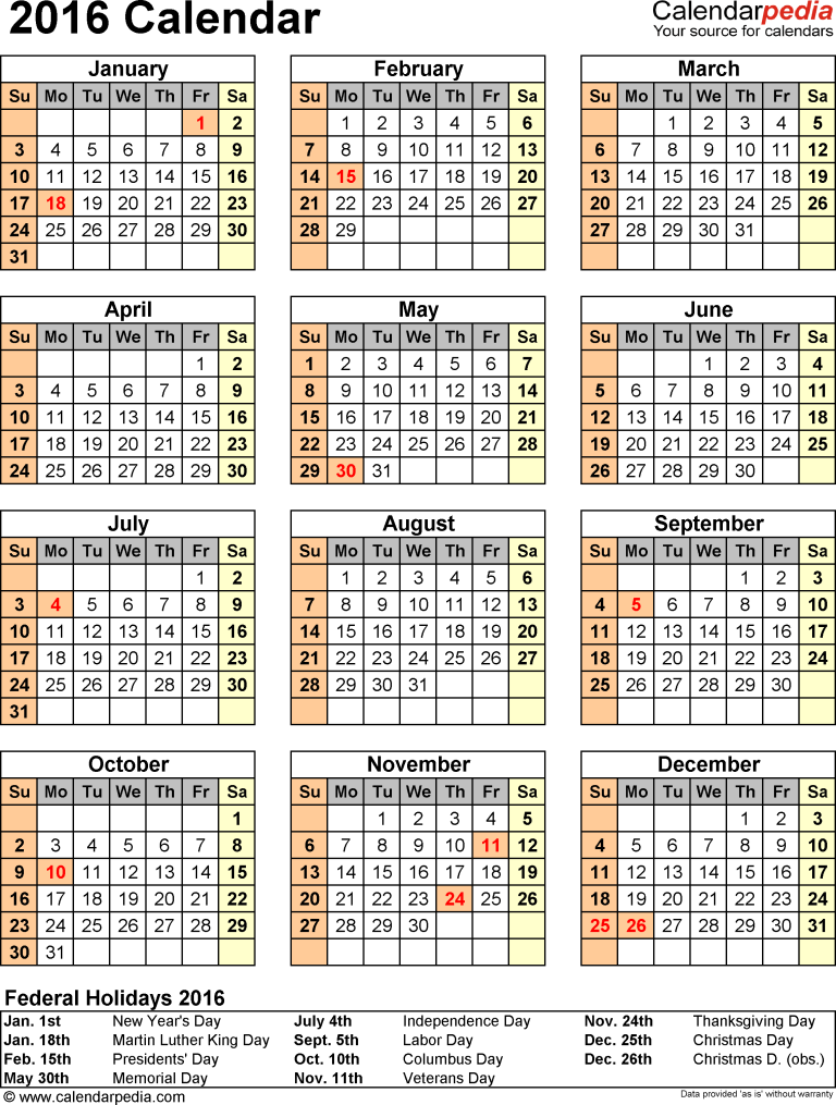 Printable DOC CAlendar PDF Holiday-pictures