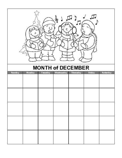 Blank November Calendar For Kids : December calendar template images print blank calendars