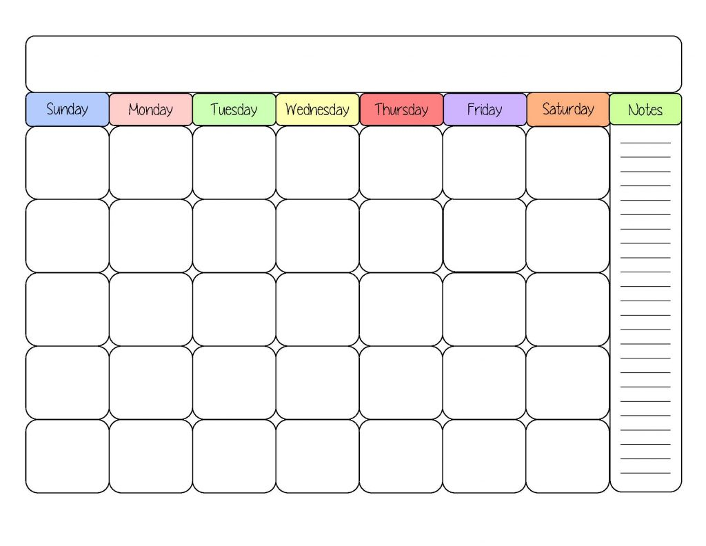 Sample Monthly Calendar : Monthly schedule template cyberuse