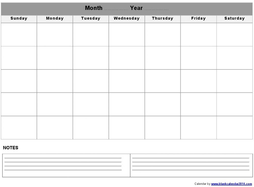 Calendar Monthly Printable Free : Free monthly calendar templates print blank calendars