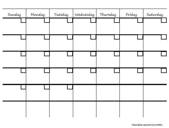 Get FREE – Formatted Blank Calendar Templates below