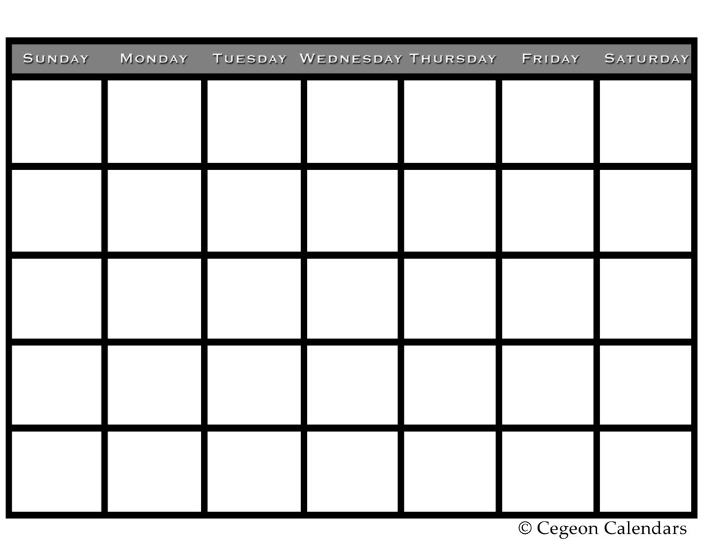 Print Blank Calendars Select Category Blank Calendars (123)