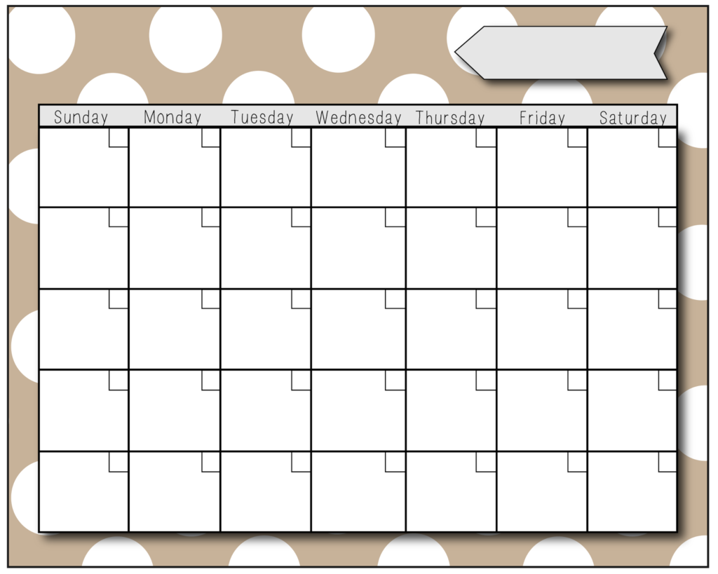 preschool calendars print blank calendars. Black Bedroom Furniture Sets. Home Design Ideas