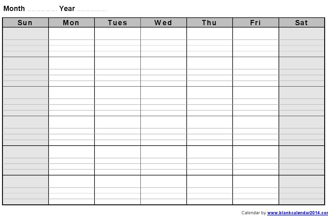 Weekly Calendar With Notes : Monthly blank calendar notes landscape sept