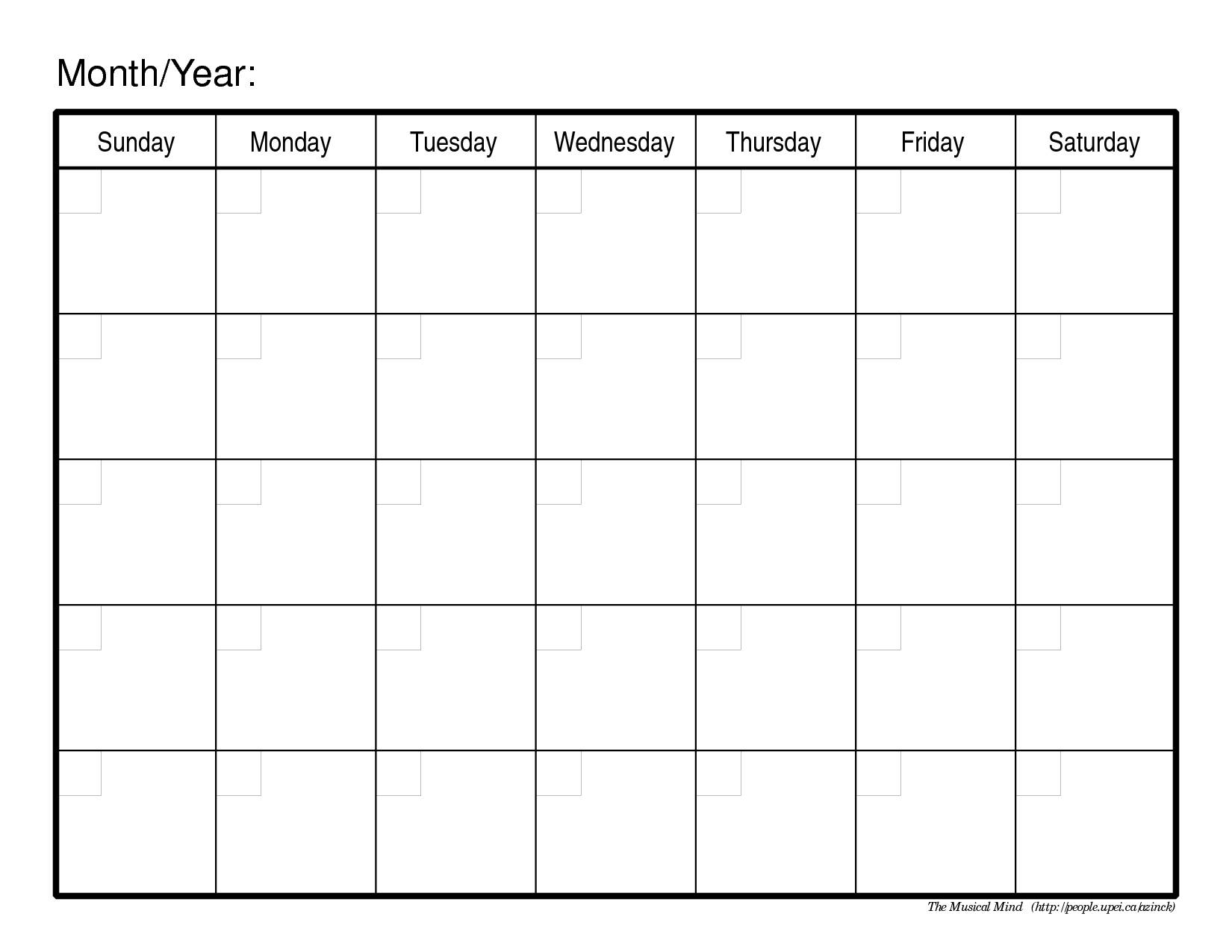 Calendar Monthly Print Out : Monthly calendar print out calendars