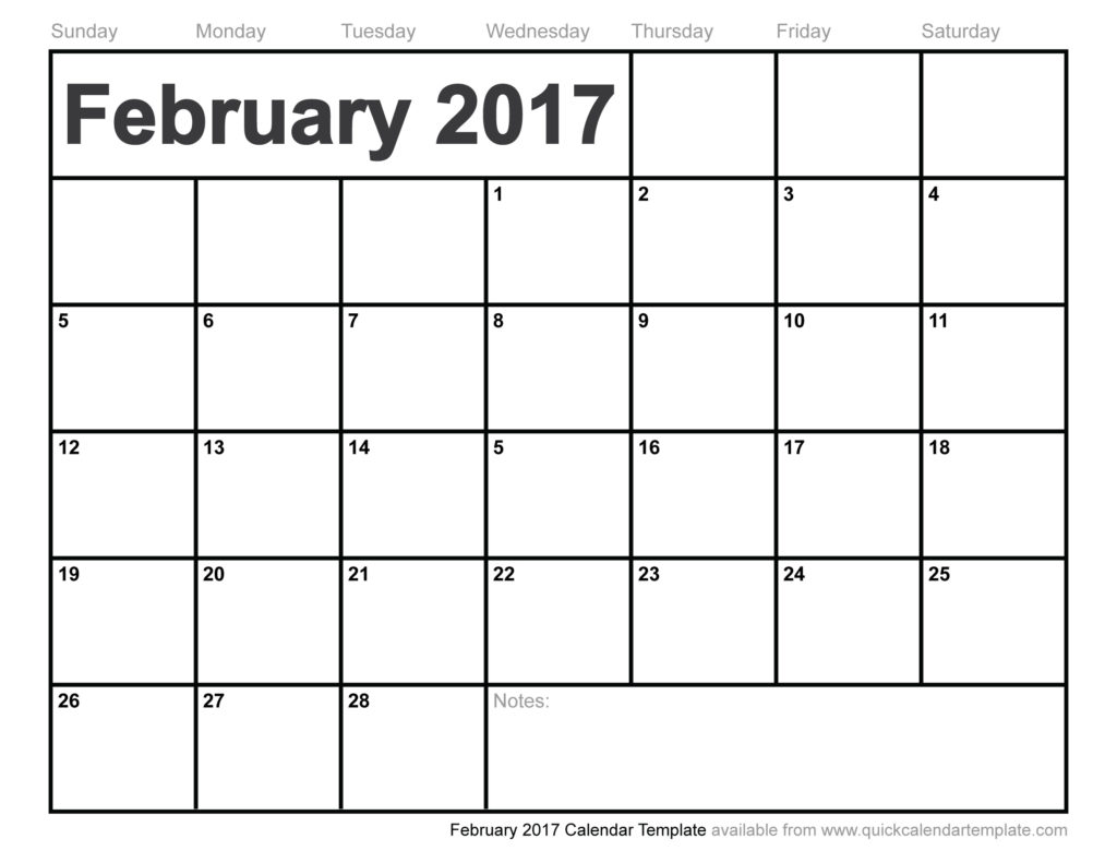 graphic relating to Printable February Calendar called Printable February Calendars Print Blank Calendars