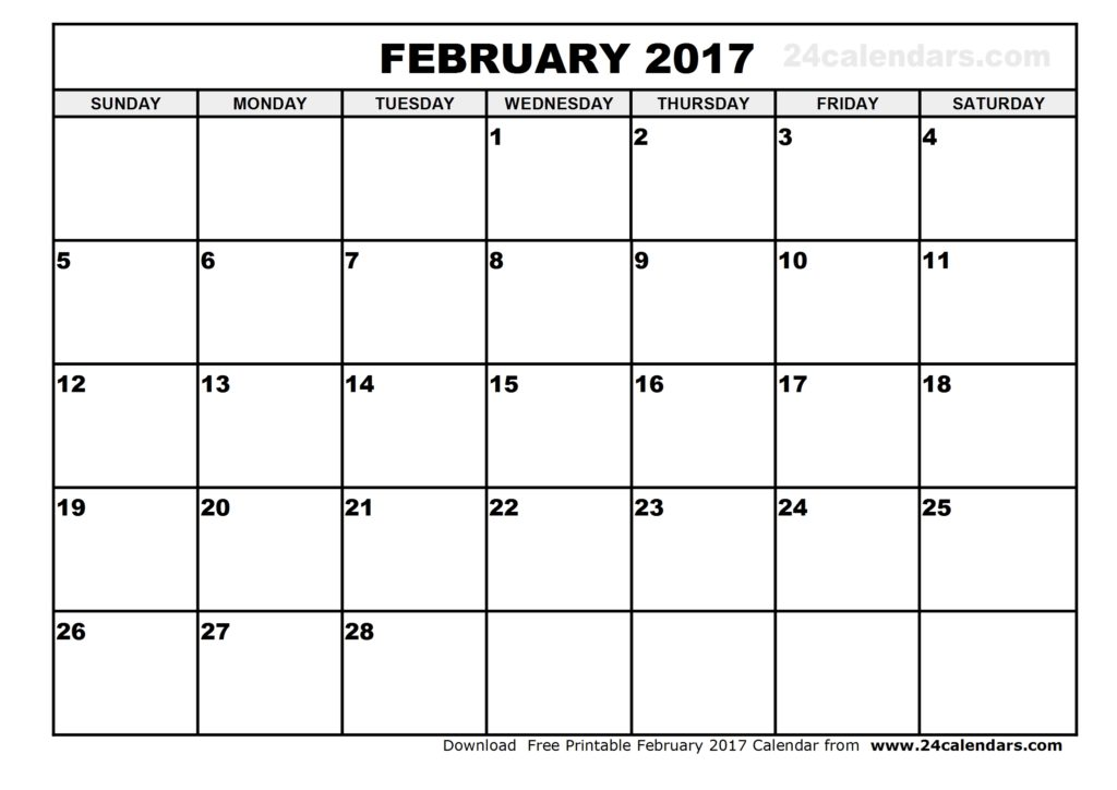 picture relating to February Calendar Printable named Printable February Calendars Print Blank Calendars