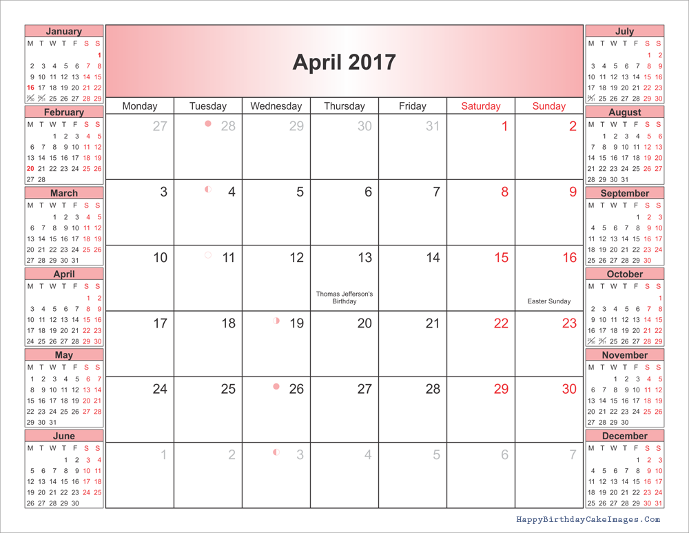 2017-2018-april-blank-calendar-with-holidays