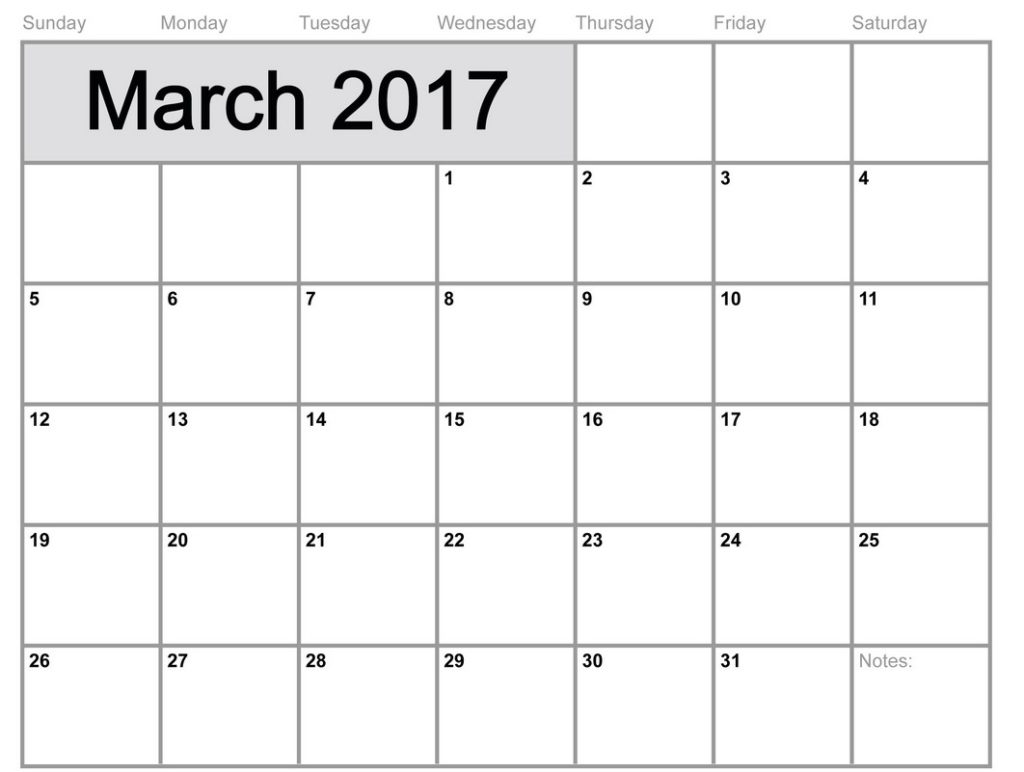 March-2017-Calendar-With-Holidays