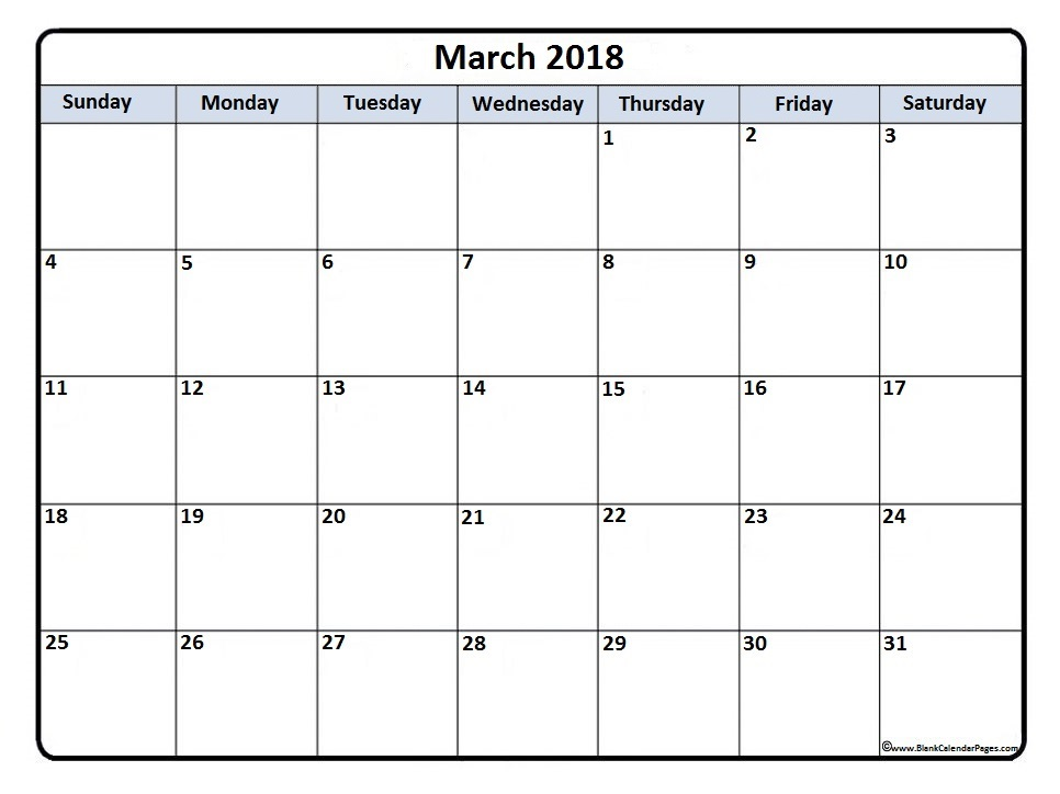 March-2018-calendar-yearly